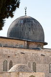 Al-Aqsa Mosque. The dome of the Al-Aqsa Mosque on the Haram al-Sharif, also known as the Temple Mount, in the Old City of Jerusalem Stock Photos