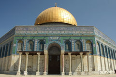Al-Aqsa Mosque. Is one of the most sacred location for Muslim in Jerusalem.The mosque itself can  accommodate about 5.000 worshippers Stock Images