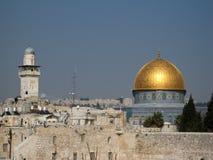 Al-Aqsa Mosque. View of Jerusalem with Al-Aqsa Mosque Stock Photo