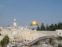 Al-Aqsa Mosque. View of Jerusalem with Al-Aqsa Mosque. general view with western wall Stock Image