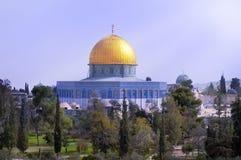 Al Aqsa Mosque. View of the golden Dome of the Rock of Al Aqsa Mosque .Jerusalem, Israel Royalty Free Stock Photo