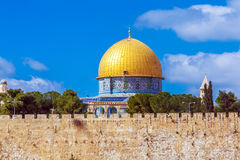 Al Aqsa Dome And Old Ruins In Jerusalem Israel Stock