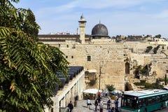 Al Aqsa Mosque, der dritte heiligste Standort im Islam, mit dem Ölberg im Hintergrund in Jerusalem, Lizenzfreie Stockbilder