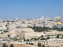 Al Aqsa Mosque and Dome of the Rock Mosque , Jerusalem Stock Photography