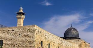 Al Aqsa Mosque, an dritter Stelle heiligster Standort im Islam auf dem Tempelberg an der alten Stadt jerusalem Lizenzfreie Stockfotografie
