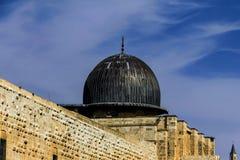 Al Aqsa Mosque, an dritter Stelle heiligster Standort im Islam auf dem Tempelberg an der alten Stadt jerusalem stockbild