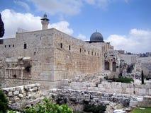 Al Aqsa Mosque i Jerusalem Arkivbilder