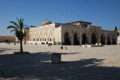 The Al-Aqsa Mosque in Jerusalem stock photo