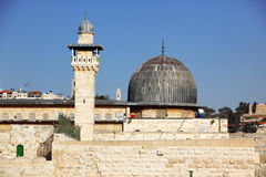 Al Aqsa Mosque in Jerusalem Royalty Free Stock Photos