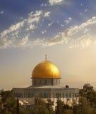 Al Aqsa Mosque , Jerusalem. View of the golden Dome of the Rock of Al Aqsa Mosque from the Mount of Olives.Jerusalem, Israel Royalty Free Stock Images