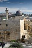 Al-Aqsa Mosque, Jerusalem. View of Old city of Jerusalem with Al-Aqsa Mosque Dome Royalty Free Stock Images