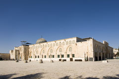 Al-Aqsa mosque in Jerusalem, Israel. The third most important mosque of Islam religion Stock Photos