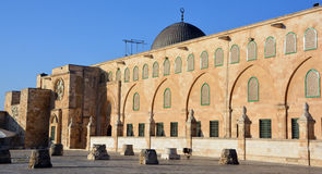 Al-Aqsa Mosque. JERUSALEM ISRAEL 26 10 16: Al-Aqsa Mosque, also known as Al-Aqsa and Bayt al-Muqaddas, is the third holiest site in Sunni Islam and is located in Stock Images