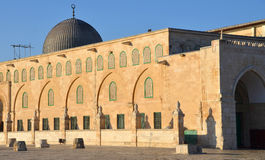 Al-Aqsa Mosque. JERUSALEM ISRAEL 26 10 16:  Al-Aqsa Mosque, also known as Al-Aqsa and Bayt al-Muqaddas, is the third holiest site in Sunni Islam and is located Royalty Free Stock Photos