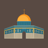Al-Aqsa Mosque in Jerusalem, Israel. Dome of the rock. Religios architecture. Stock Image