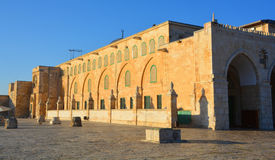 Al-Aqsa Mosque. JERUSALEM ISRAEL 26 10 16: Jerusalem wall and Al-Aqsa Mosque, also known as Al-Aqsa and Bayt al-Muqaddas, is the third holiest site in Sunni Stock Image