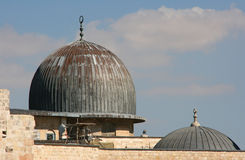 Al Aqsa Mosque in Jerusalem, israel. Royalty Free Stock Photography