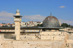 Al Aqsa Mosque in Jerusalem, israel. Royalty Free Stock Photo