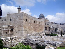 Al Aqsa Mosque in Jerusalem. Muslim holy place in Israel Stock Images