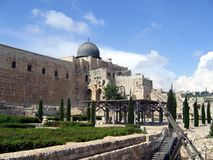 Al Aqsa Mosque in Jerusalem. Muslim holy place in Israel Royalty Free Stock Image
