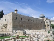 Al Aqsa Mosque in Jerusalem. Muslim holy place in Israel Royalty Free Stock Photography