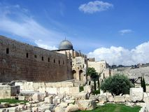Al Aqsa Mosque in Jerusalem. Muslim holy place in Israel Royalty Free Stock Photo