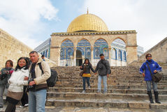 Al Aqsa Mosque Jerusalem. Tours Stock Photo