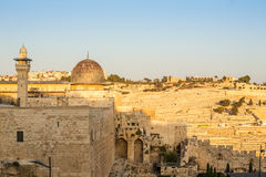 Al Aqsa mosque and Mount of Olives, Jerusalem Royalty Free Stock Photo