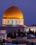 Al-Aqsa Mosque at Night, Jerusalem, Israel Royalty Free Stock Images