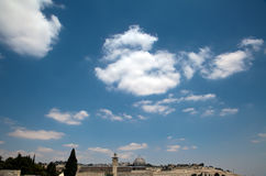 Al-Aqsa Mosque. In the old city of Jerusalem as viewed from the rooftops of the Jewish Quarter Royalty Free Stock Image