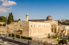 The Al-Aqsa Mosque in Old City of Jerusalem, Israel Royalty Free Stock Image