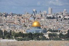 Al-Aqsa Mosque in the Old City of Jerusalem, Israel. Stock Image