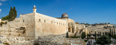 Al-Aqsa Mosque in Old City of Jerusalem Royalty Free Stock Photography