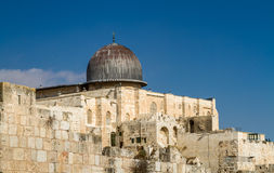 Al-Aqsa Mosque in Old City of Jerusalem Stock Image