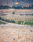 Al-Aqsa Mosque and the old Jewish cemetery Royalty Free Stock Photography