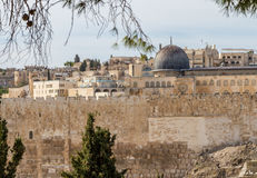 Al-Aqsa Mosque, Temple Mount in Jerusalem Stock Photography