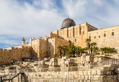 Al-Aqsa Mosque, Temple Mount in Jerusalem Stock Images