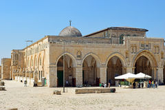 Al Aqsa Mosque at the Temple Mount, Jerusalem, Israel Stock Photography