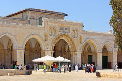 Al Aqsa Mosque at the Temple Mount, Jerusalem, Israel Royalty Free Stock Photos