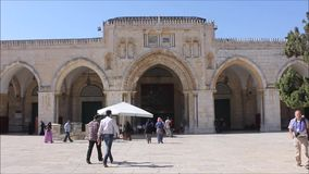 Al Aqsa Mosque in the Temple Mount in Jerusalem stock video
