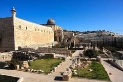 The al-Aqsa Mosque on the Temple Mount Stock Images