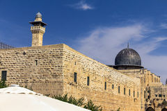 Al Aqsa Mosque, terzo sito più santo nell'Islam su Temple Mount alla vecchia città gerusalemme immagine stock