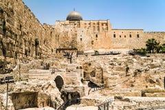 Al-Aqsa Mosque. View on Al-Aqsa mosque, Jerusalem Old City Royalty Free Stock Photo