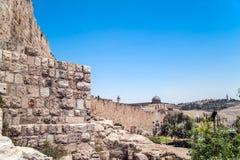 Al-Aqsa Mosque. View on Al-Aqsa mosque, Jerusalem Old City Stock Image