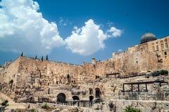 Al-Aqsa Mosque. View on Al-Aqsa mosque, Jerusalem Old City Royalty Free Stock Photos