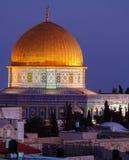 Al--Aqsamoschee nachts, Jerusalem, Israel Lizenzfreie Stockbilder