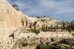 Al-Aqsamoské, tempelmontering i Jerusalem Arkivbild