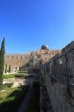 Al-Aqsamoské och bysantinsk byggnad Arkivfoton