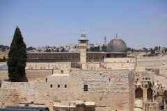 Al-Aqsamoské, tempelmontering, Jerusalem Royaltyfri Foto