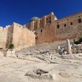 Al-Aqsamoské- & trappuppgångHulda portar Arkivbilder